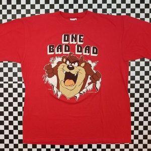 VTG Artex 1989 Warner Bros Taz One Bad Dad Tee